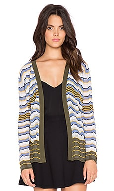 M Missoni Multi Zig Zag Cardigan in Periwinkle
