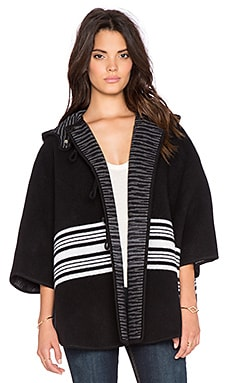 M Missoni Stripe Poncho in Black
