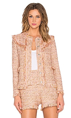 M Missoni Fringe Jacket in Blush