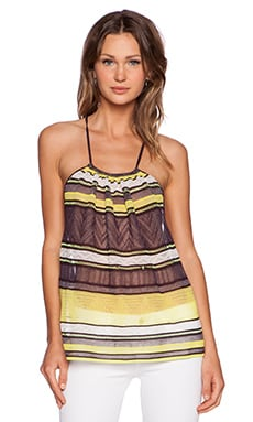 M Missoni Striped Tank in Eggplant