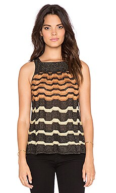 M Missoni Zig Zag Tank in Black