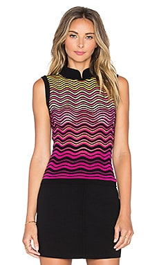 Ripple Stitch Tank in Fuschia
