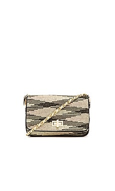 M Missoni Lurex Zig Zag Chain Handbag in Gold