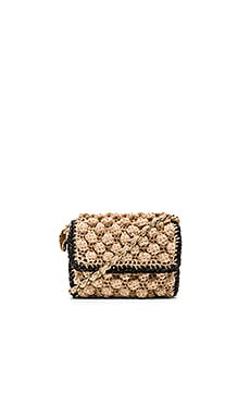 M Missoni Lurex Pom Pom Crossbody in Nude