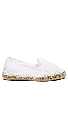 MANEBI Paris Double Sole Espadrille in White