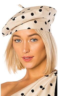 Polka Dot Beret Hat MARIANNA SENCHINA $75