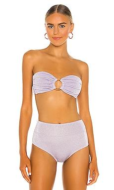 Tori Bandeau Bikini Top Montce Swim $122 NEW