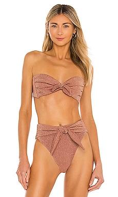 Strapless Cabana Bikini Top Montce Swim $138 NEW