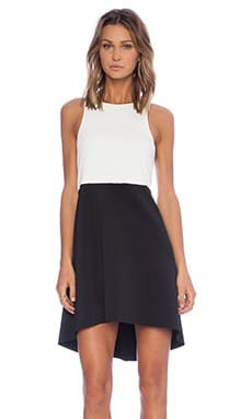 Minty Meets Munt Voyager Dress in White & Black