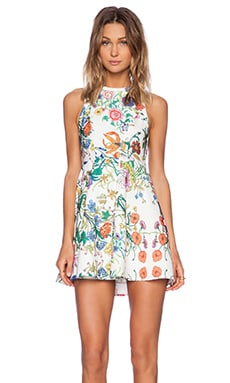 Instant Crush Dress in White Botanica Print