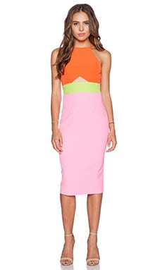 Minty Meets Munt Doing it Right Midi Dress in Bubblegum Splice