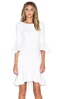 Minty Meets Munt Let It Flare Dress in White