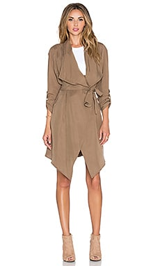 Minty Meets Munt Neo Trench Coat in Khaki