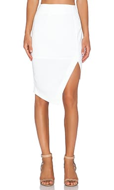 Minty Meets Munt Mixed SIgnals Skirt in White