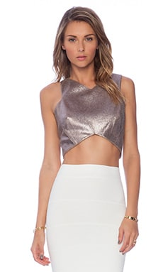 Minty Meets Munt Oriel Cropped Top in Metallic