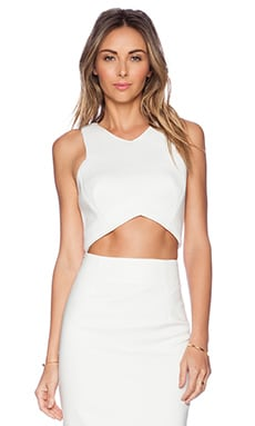 Minty Meets Munt Oriel Cropped Top in Winter White