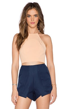 Minty Meets Munt Scene Crop Top in Apricot