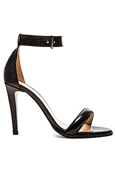 The Mode Collective Ankle Strap Sandal in Black Lizard