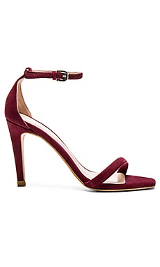 The Mode Collective Square Toe Sandal in Burgundy Suede