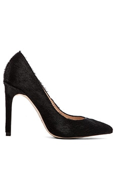 The Mode Collective Point Pump with Pony Fur in Black Pony