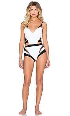 MOEVA Roxy Swimsuit in White & Black