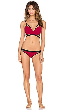 MOEVA Judy Bikini Set in Black & Bordeaux