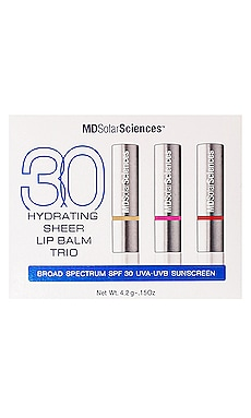 Hydrating Sheer Lip Balm Trio SPF 30 MDSolarSciences $50
