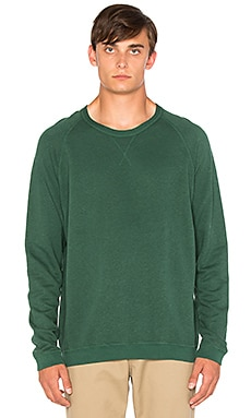 Hemp Raglan Crew in Sequoia
