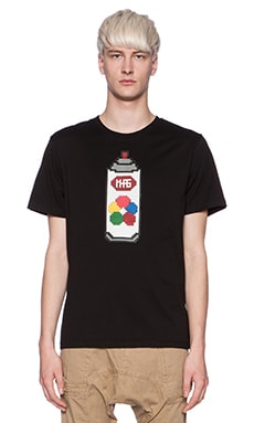 Mostly Heard Rarely Seen Spray Can Lego Tee in Black
