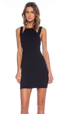 Motel Salvina Halter Dress in Black