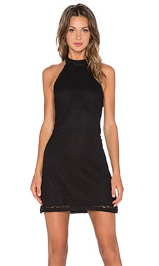 Motel Missy Dress in Black Bohemian Lace