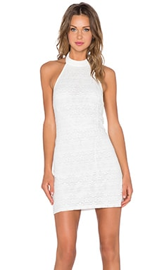 Motel Missy Dress in White Bohemian Lace