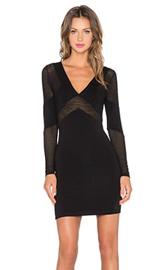 Motel Net Bandit Dress in Black