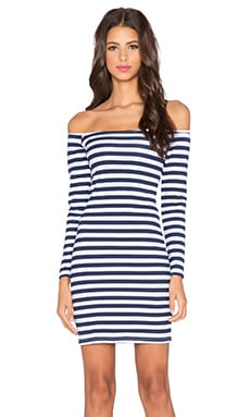 Motel Deborah Mini Dress in Bretton Navy Stripe