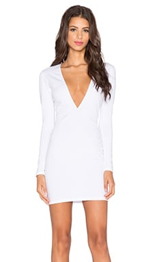 Motel Meli Mini Dress in White