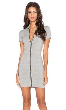 Motel Bourbon Mini Dress in Grey Marl