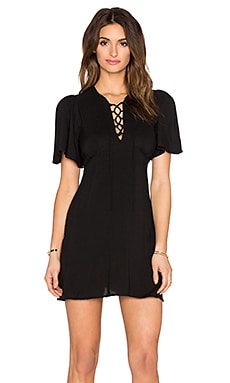 Motel Blush Dress in Black