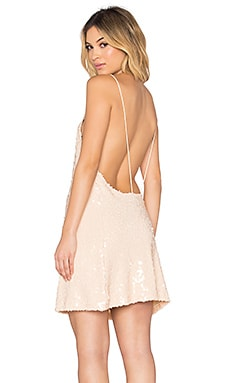 Motel Glade Dress in Antique Gold Sequin