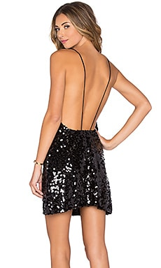 Motel Glade Dress in Black Sequin