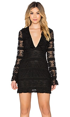 Motel Oswin Dress in Black Lace