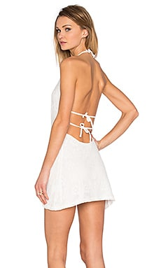 Muain Dress in Off White Retro Lace