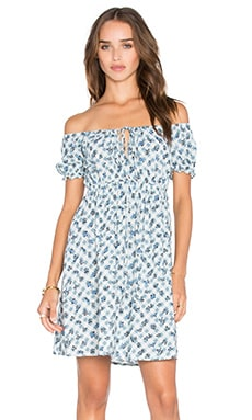 Langley Dress en Blue Ditsy Gingham
