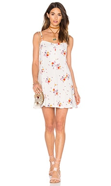 Motel Ruby Dress in White Ditsy Strawberry
