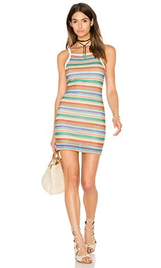 Motel Zamora Dress in Multi Rainbow