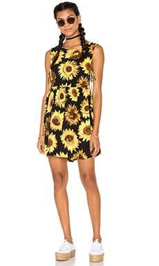 Motel Lasora Dress in Giant Sunflower