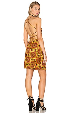 Motel Zita Dress in Yellow Hot Sun