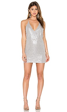 Ringo Finn Dress in Grey Clear Cut Sequin