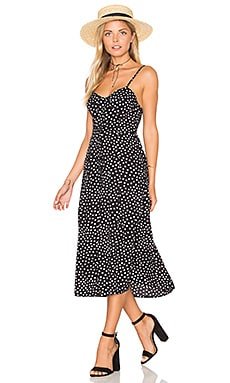 Motel Kate Dress in Black Ditsy Polka