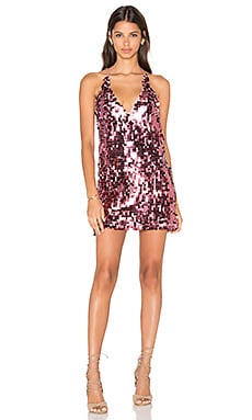 Finn Dress in Metallic Rose Disc Sequin