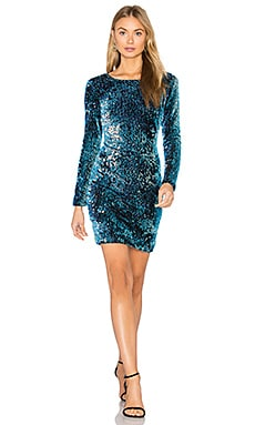 Gabby Dress in Opal Shine Iridescent Sequin